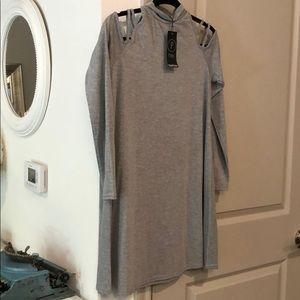 Gray petite dress